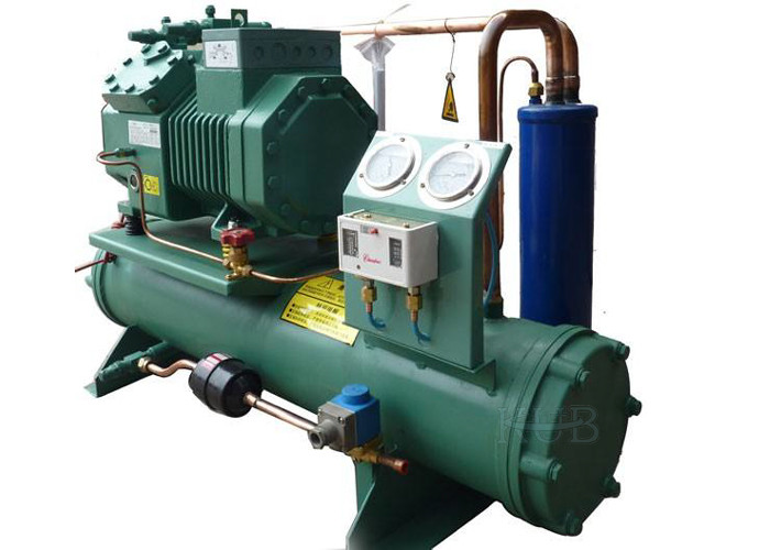Commercial 6FE-44Y Water Cooled Condensing Unit Refrigeration Electronic Compressor Protection